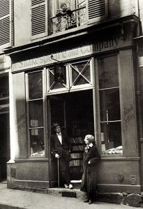 original Shakespeare and Company with owner and Joyce