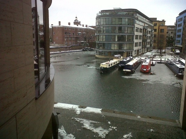 view of canal beside Guardian offices