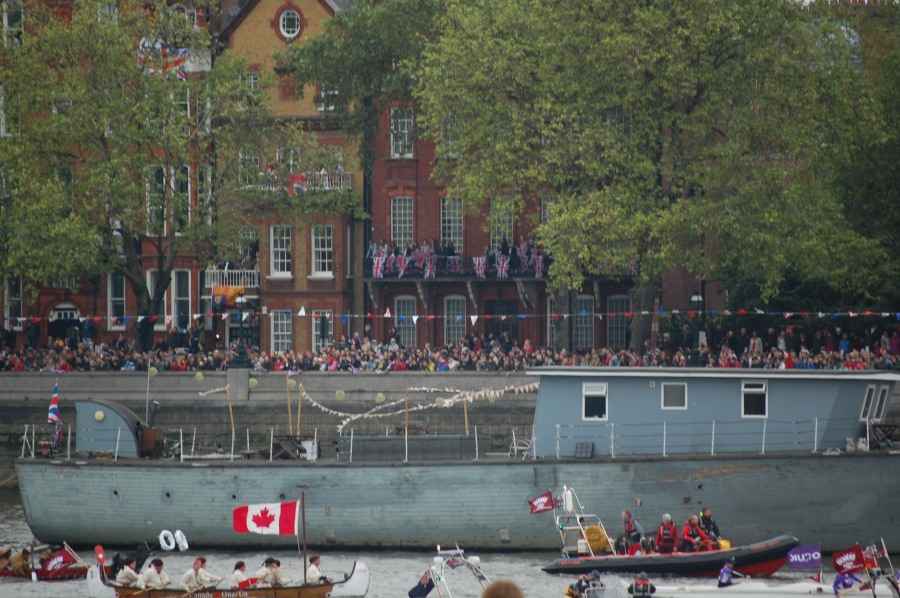 Canada's canoe in flotilla