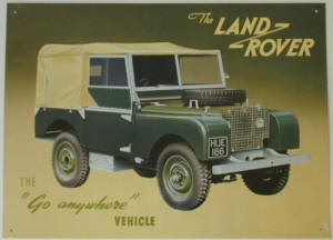 ad for Land Rover