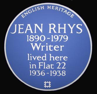 blue plaque Jean Rhys
