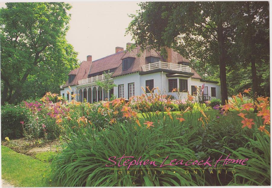 postcard of Leacock house