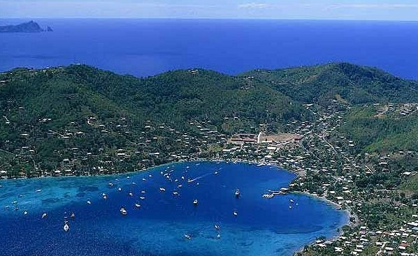 view of Bequia harbour