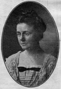 Portrait of Dr. Helen MacMurchy, taken from the Globe, April 28 1914. MacMurchy was one the first female graduates of Medicine (M.B. 1900) and internationally known in the field of child welfare. (Dept. Graduate Records).