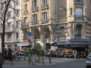 Flower shop in Montparnasse