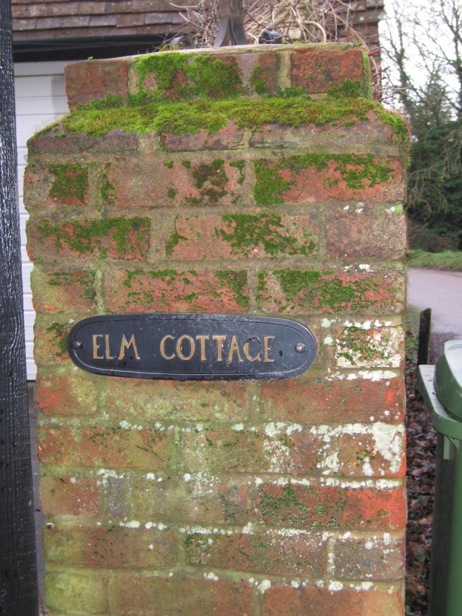 Elm Cottage sign