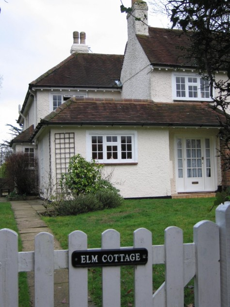Elm Cottage from the road.