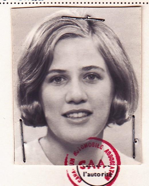 Isabel Huggan in 1960s