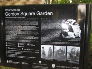 The Bloomsbury Group in Gordon Square