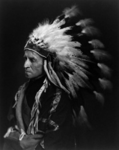 "Buchan is ""a chief of the Blood Indians"" in this photo in his memoir"