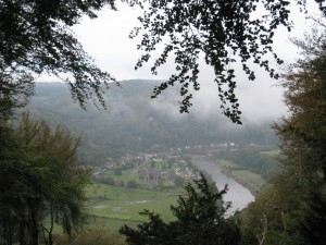 Tintern Abbey from the hills