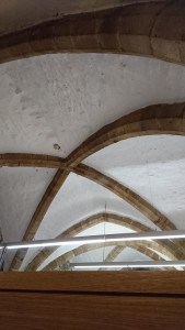 vaulting in cafe of Durham Cathedral
